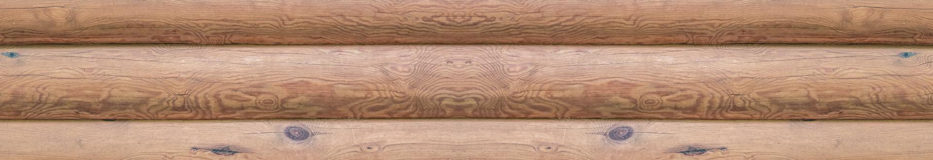 ściana z bali drewnianych - banner